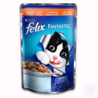 Корм для котів Фантастік Фелікс 100г