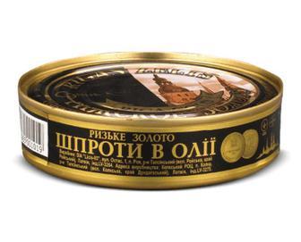 Шпроти Riga Gold «Ризьке золото» 160г