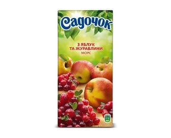 Морс з яблук та журавлини «Садочок» 0,95 л